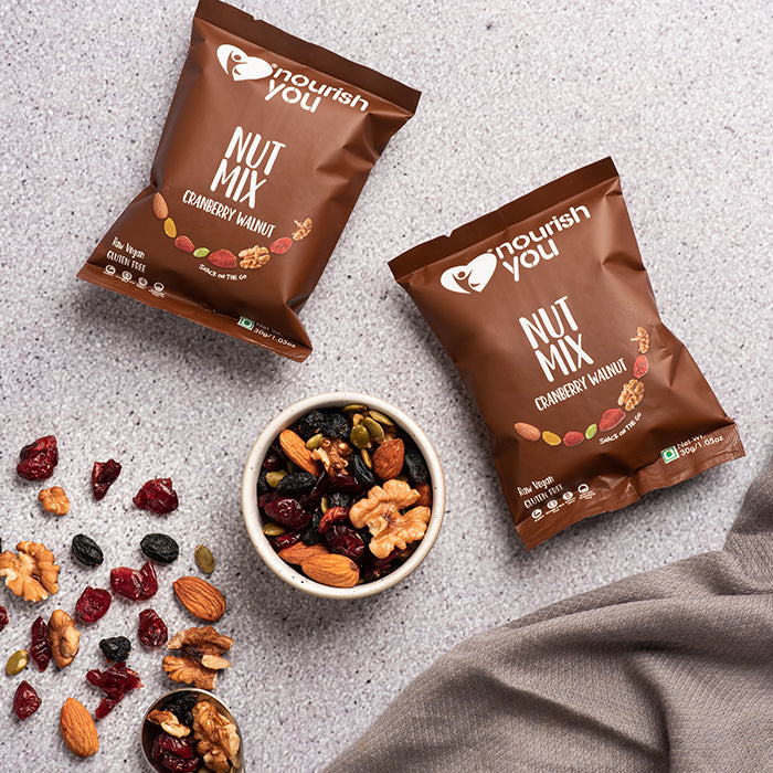 CRANBERRY WALNUT NUT MIX | 30g