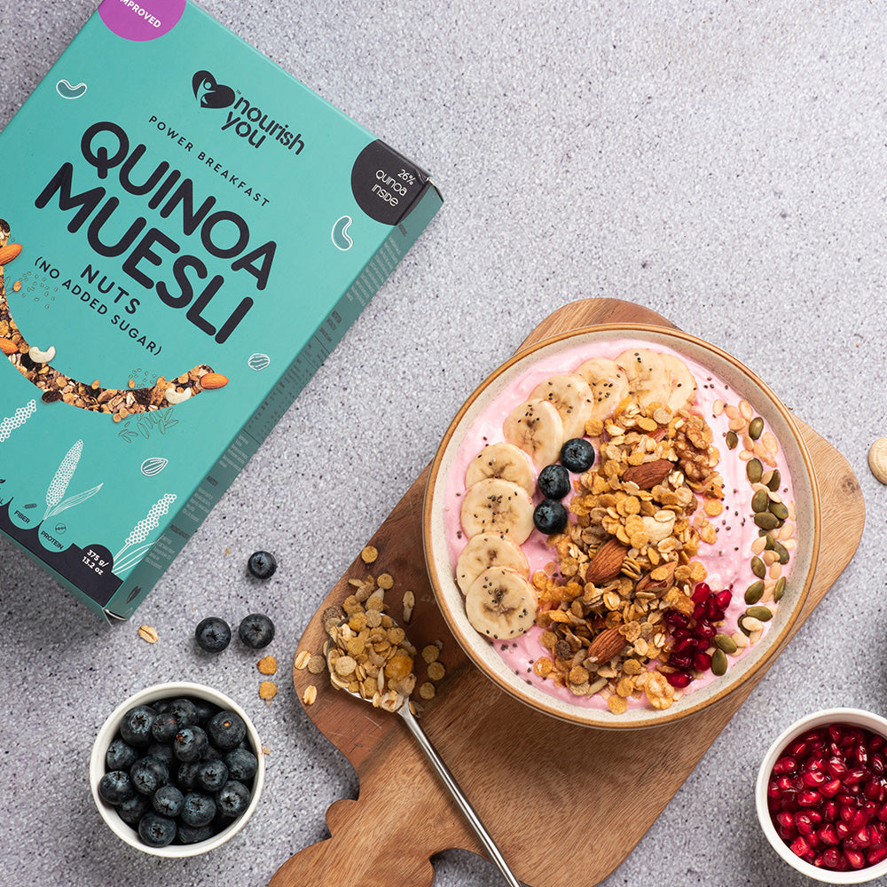 QUINOA MUESLI - NUTS (NO ADDED SUGAR) | 375g