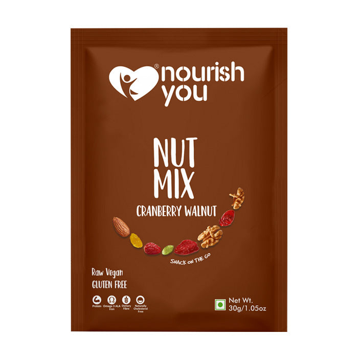 CRANBERRY WALNUT NUT MIX | 30g - Nourish You