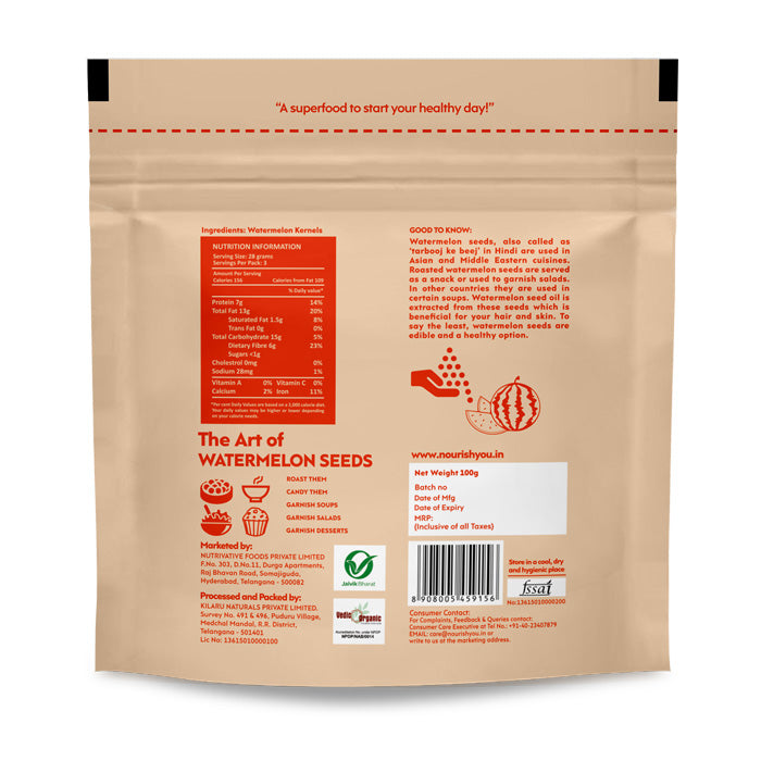 WATERMELON SEEDS | 100g - Nourish You