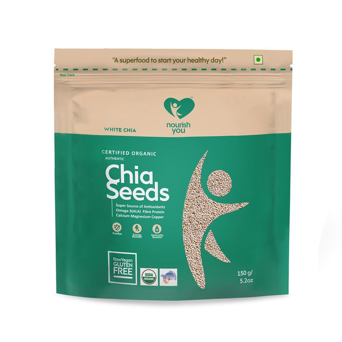 WHITE CHIA SEEDS | 150g - Nourish You