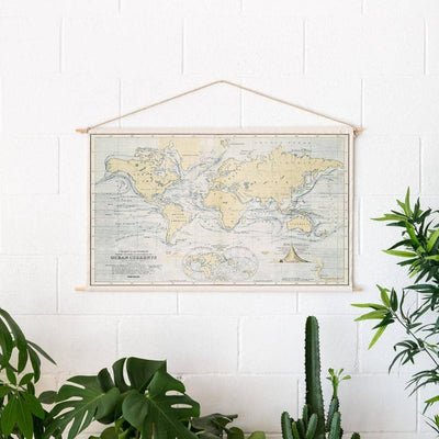 Woody Cotton Map Misswood Oceans