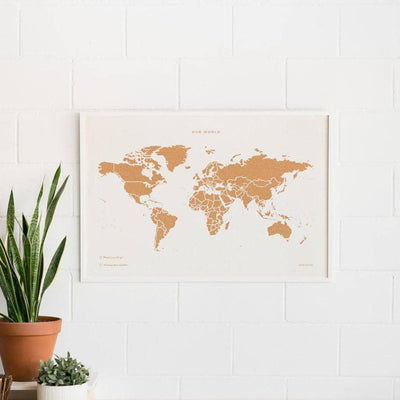 Woody Map Special Edition Maps misswood 90 x 60 cm Blanco