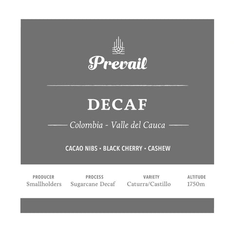Colombia Decaf - Prevail Coffee