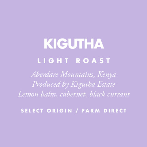 Kenya Kigutha - Barrington Coffee