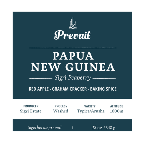Papua New Guinea Sigri Peaberry - Prevail Coffee