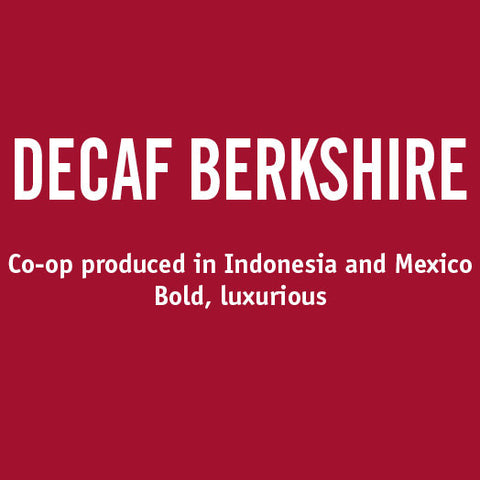 Barrington Coffee - Decaf Berkshire