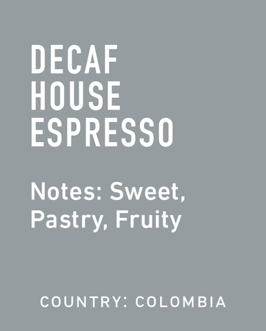 Decaf Colombia Espresso - Topeca Coffee