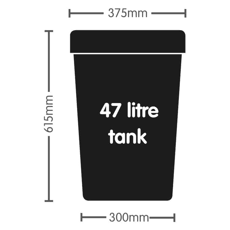 AutoPot 47 litre Tank with 6mm Grommet and Lid