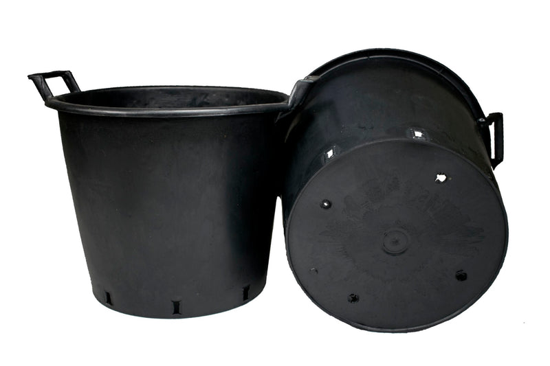 Round pot with handles, 35 L