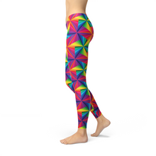 Load image into Gallery viewer, Womens Rainbow Pinwheel Leggings