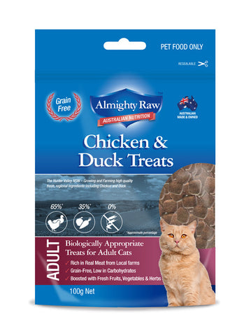 Almighty Raw Adult Cat Treats 100gm