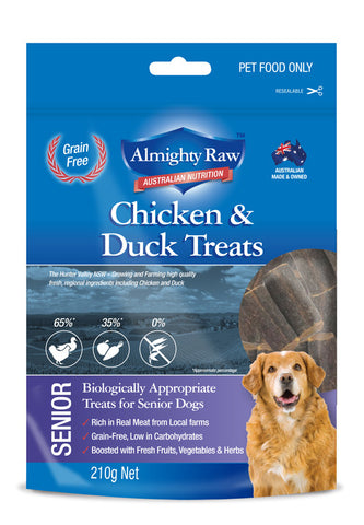 Almighty Raw Senior Dog Treats 210gm