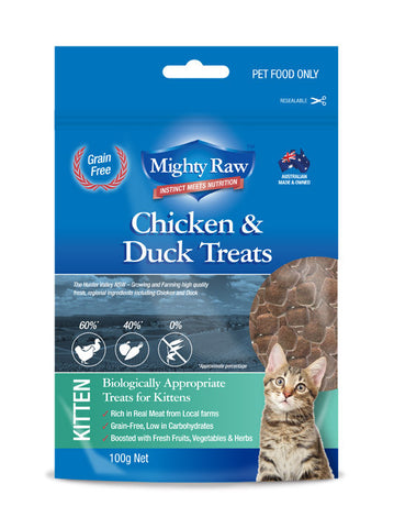 Mighty Raw Kitten Treats 100gm