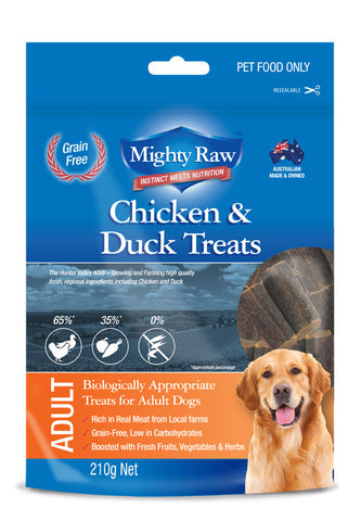 Mighty Raw Adult Dog Treats 210gm