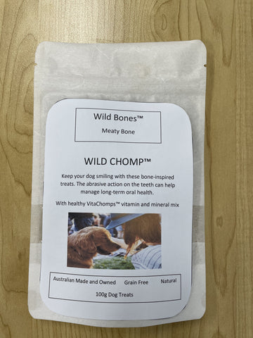 Wild Bones™ Meaty Bone Wild Chomp™ Dog Treats 100g