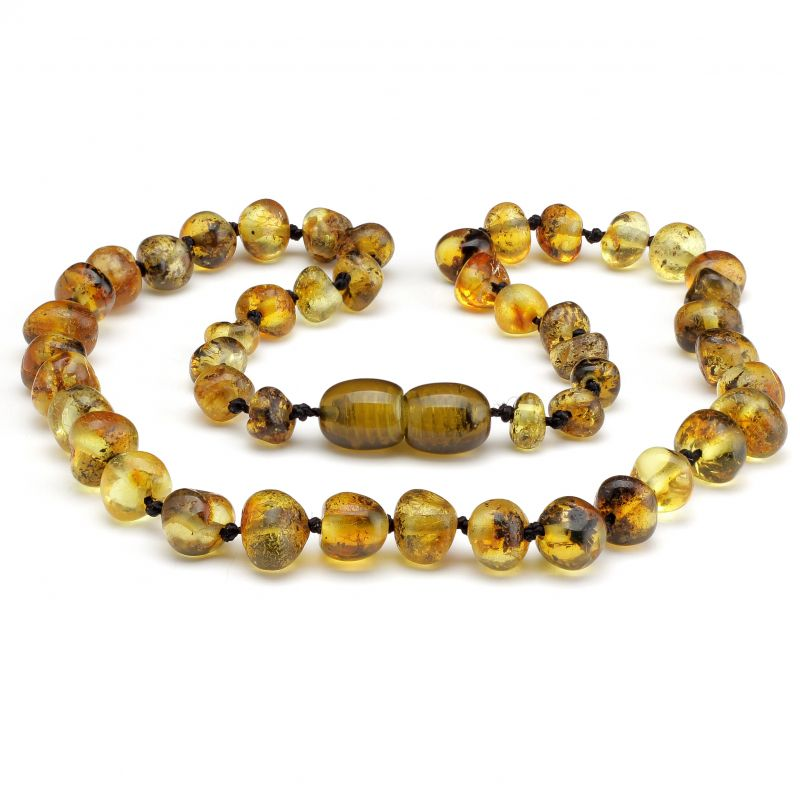 Do babies chew on amber teething necklace?