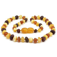 Baltic Amber Teething Necklace Raw Unpolished Multi Color-Baltic Amber Teething Necklace-Unique Baltic Amber