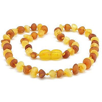12.5 Inch Baltic Amber Teething Necklace Cognac Baby Toddler-Baltic Amber Teething Necklace-Unique Baltic Amber