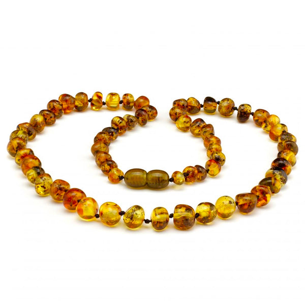 Adult Baltic Amber Polished Olive Arthritis Carpal Tunnel Sciatica Migraine Back Pain-Baltic Amber Teething Necklace-Unique Baltic Amber
