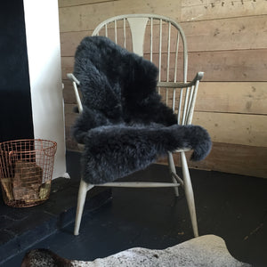 Slate Grey XL Longwool Sheepskin - Hunter Jones - 1
