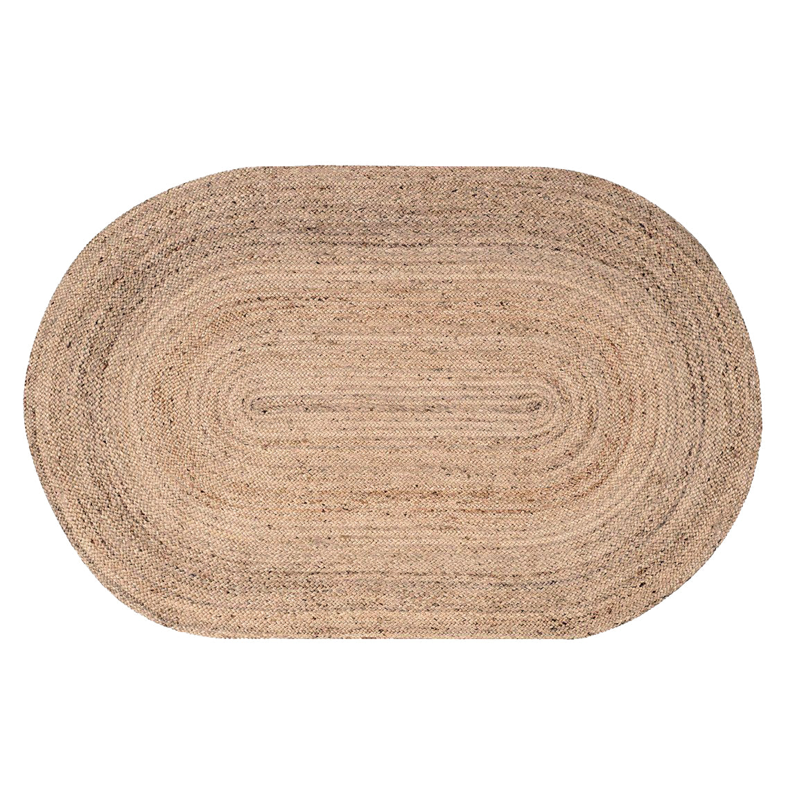 Oval Natural Jute Rug 120 x 180 cm