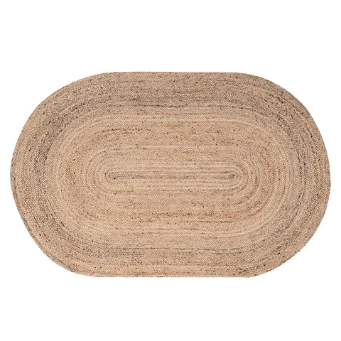 Oval Natural Jute Rug 150 x 215 cm
