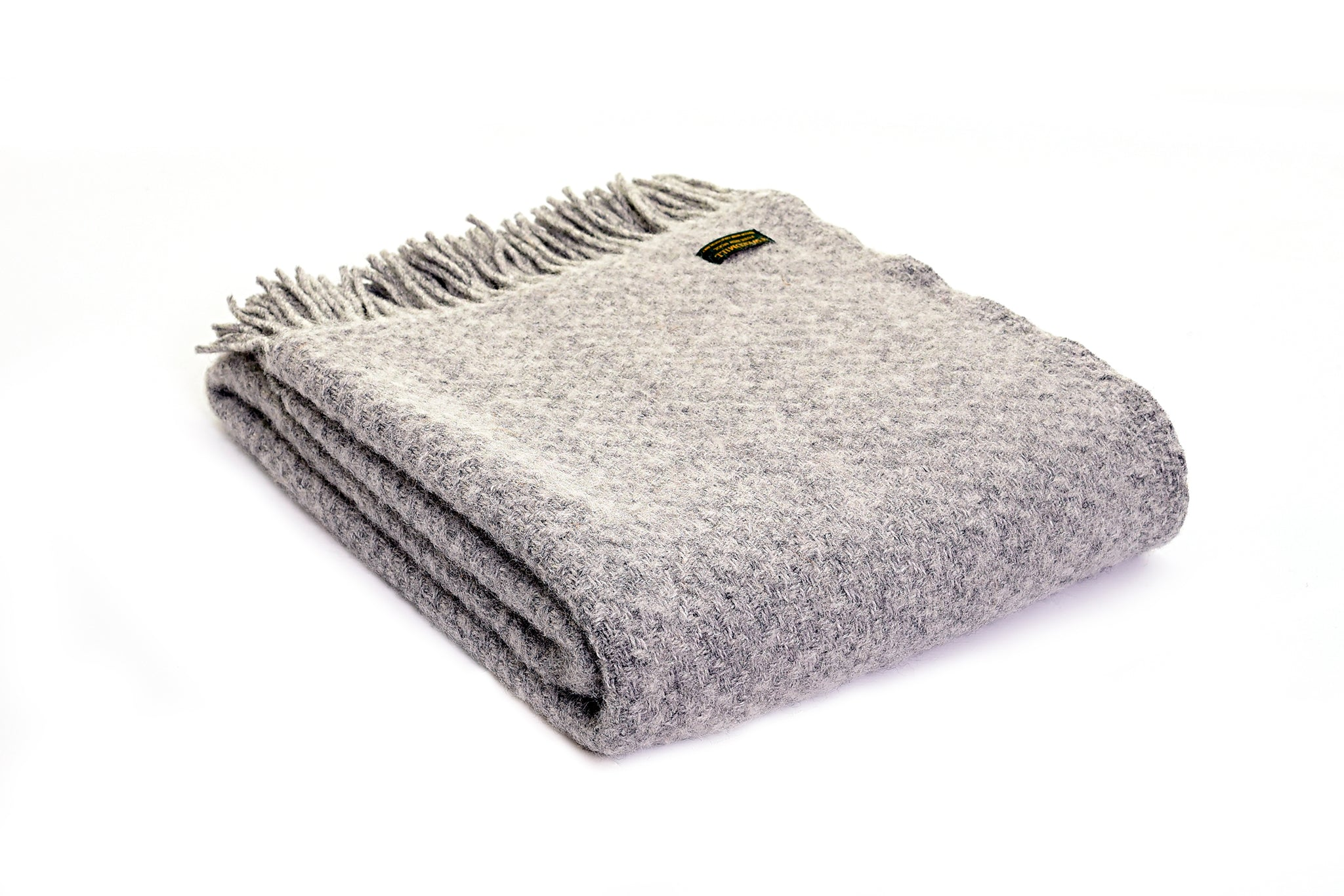 Pure New Wool Blanket - Silver Grey Wafer