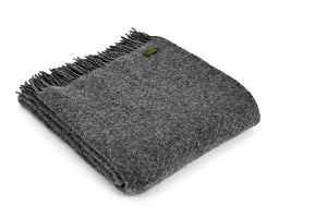 Pure New Wool Blanket - Slate Grey Wafer