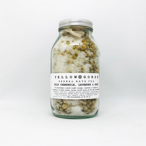 Wild Chamomile, Lavender + Sage, Herbal Bath Tea by Yellow Gorse