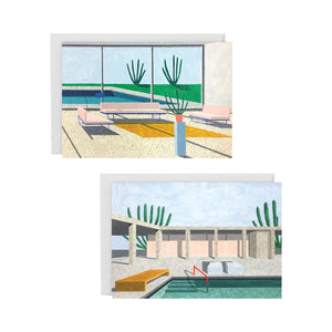 Interior / Pool Art Card pair