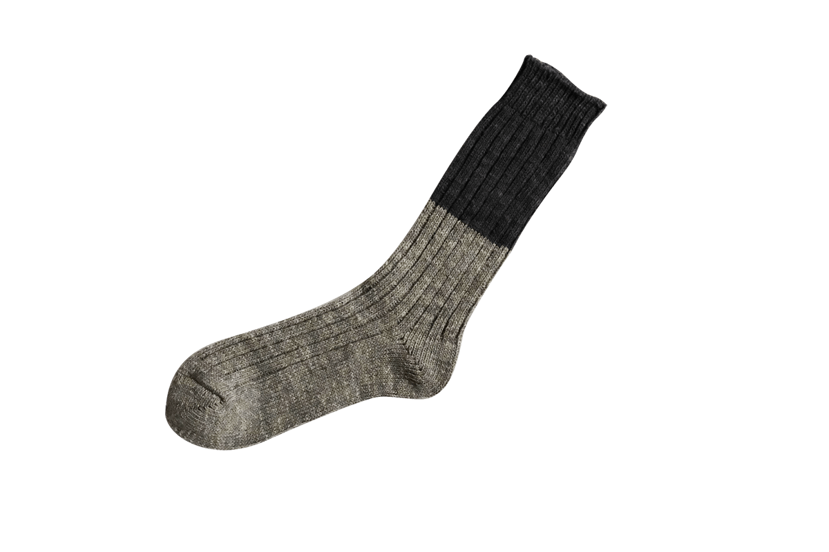 Wool & Cotton Socks - Grey/Charcoal