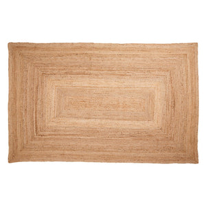 Rectangular Natural Jute Rug 90 x 150 cm