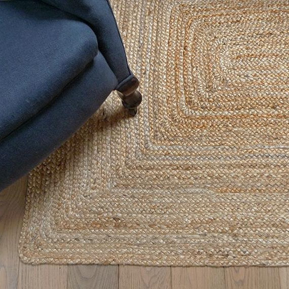 Rectangular Natural Jute Rug 200 x 300 cm