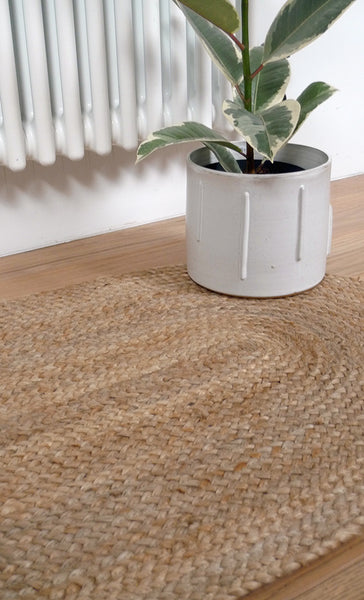 Oval Natural Jute Runner 55 x 180 cm