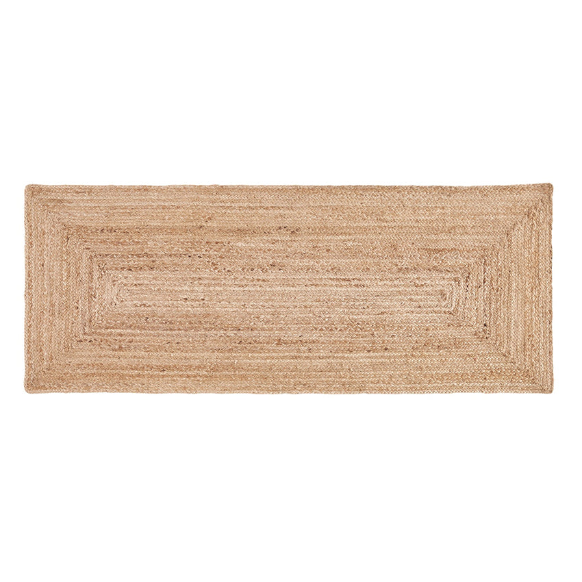 Rectangular Natural Jute Runner 60 x 245 cm