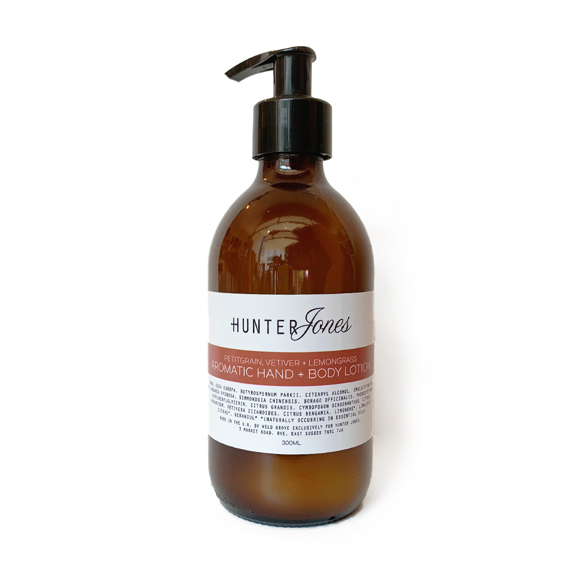 Petitgrain, Vetiver + Lemongrass Aromatic Hand and Body Lotion