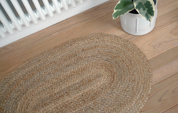Oval Natural Jute Rug 60 x 90 cm