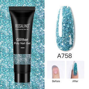 ROSALIND Glitter Poly Nail Gel Extension 15ml