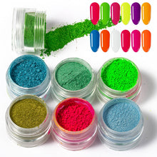 Load image into Gallery viewer, Mixed Neon Powder Eyeshadow - 6 Pcs/Set