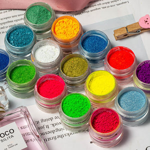 Mixed Neon Powder Eyeshadow - 6 Pcs/Set
