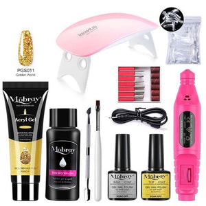 Mobray Poly Nail Gel Kit For Manicure