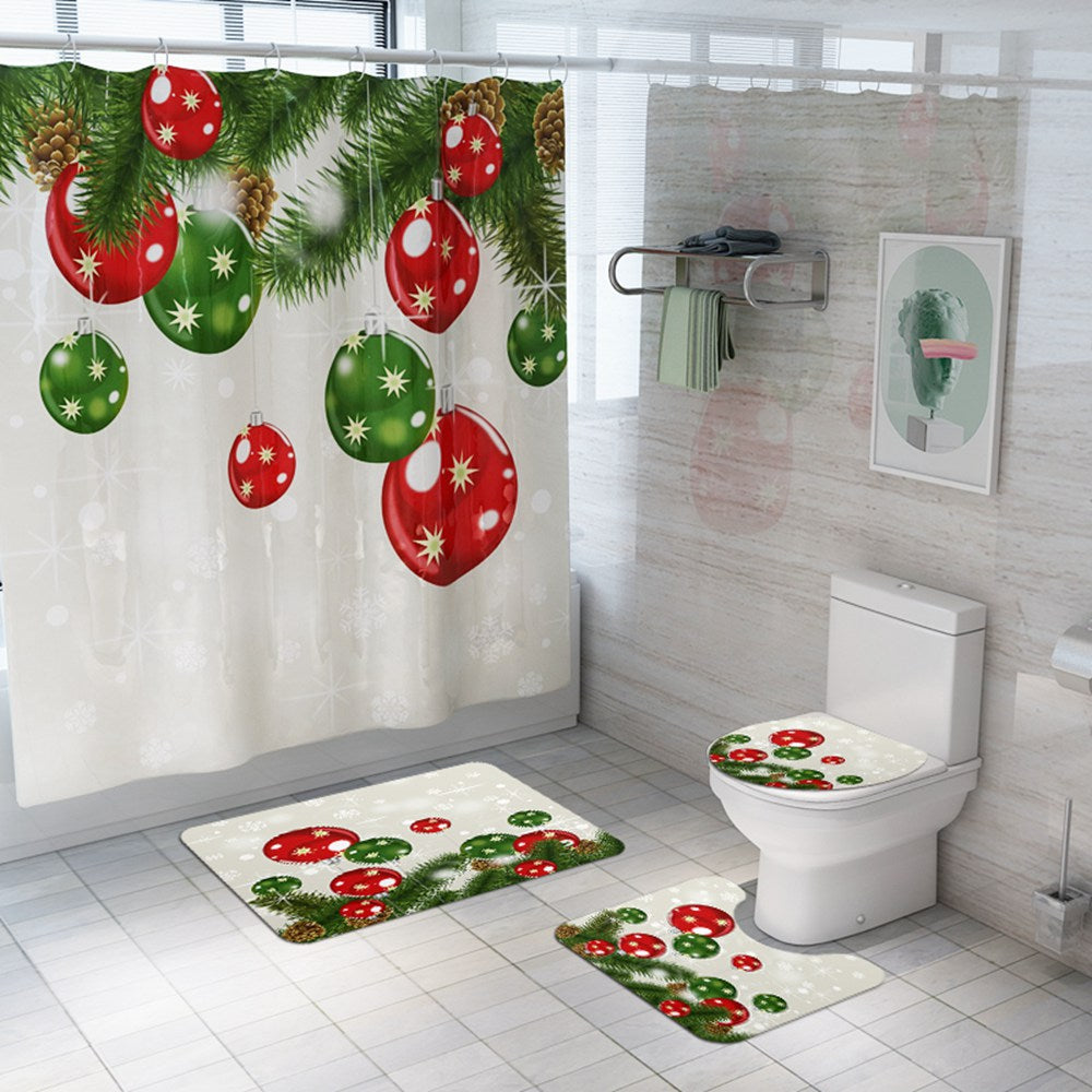 christmas shower curtain Ball Ornaments