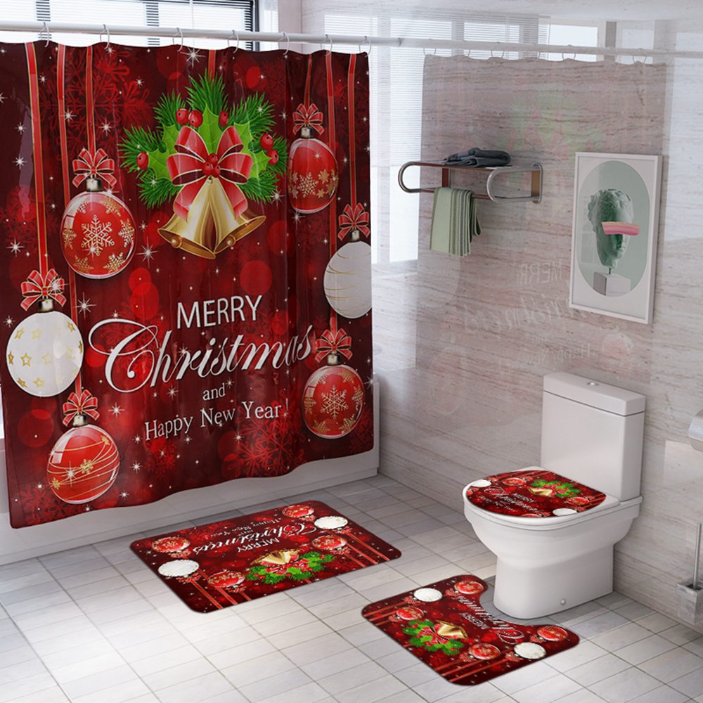 christmas shower curtain
