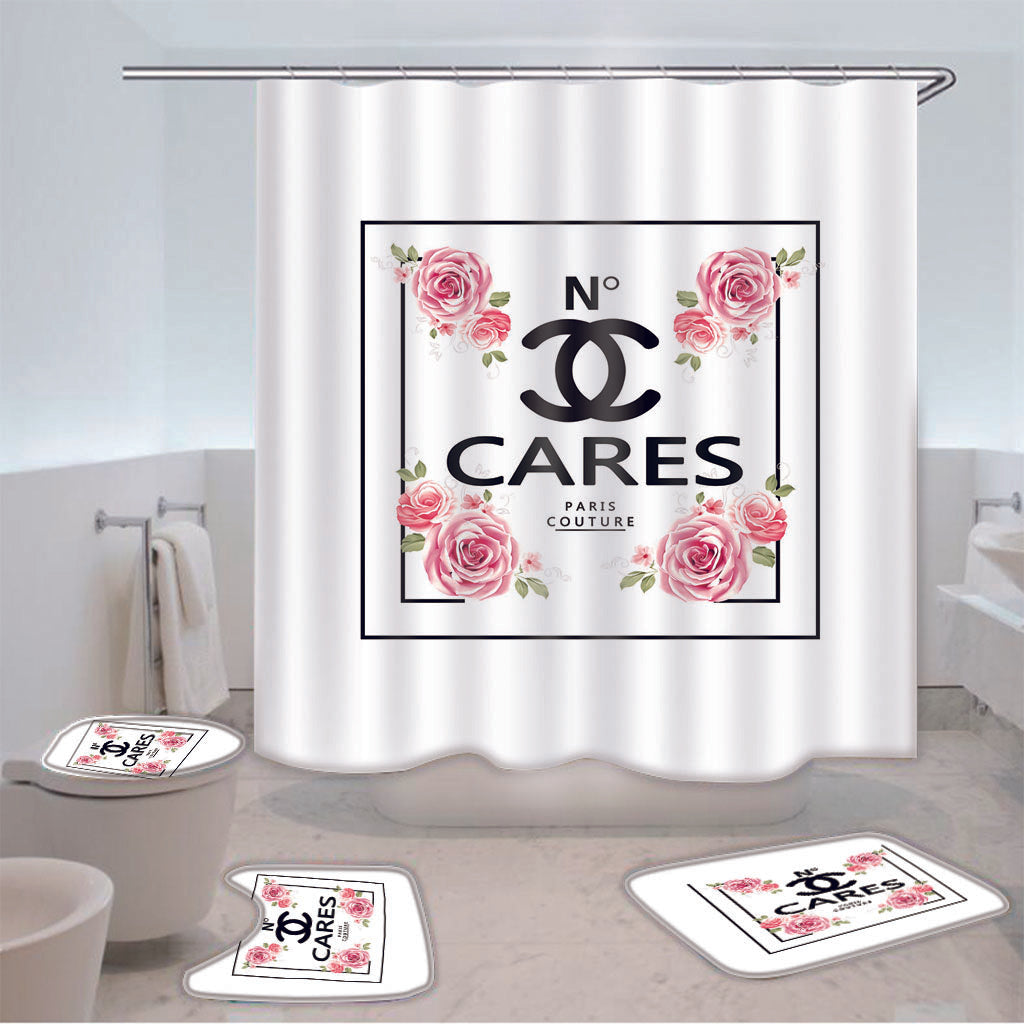 chanel shower curtain Flowers Set