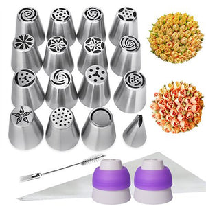 29Pcs/set Russian Piping Tips Set Cake Frosting Icing Decorating