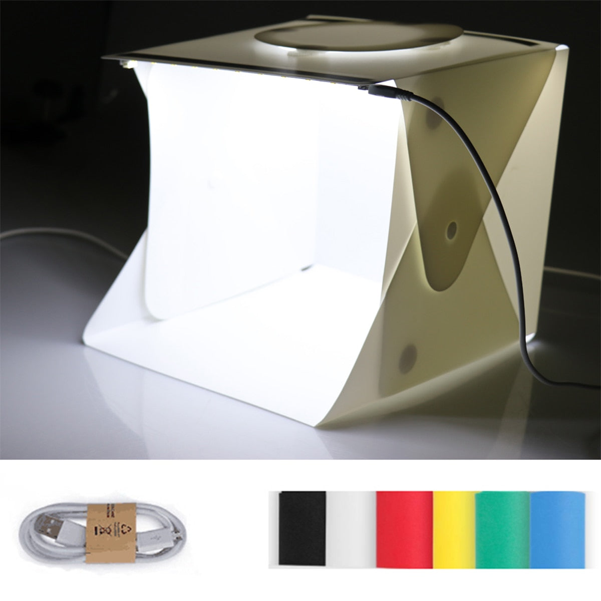 6 Backdrops Mini Folding Light Box Studio  Photography