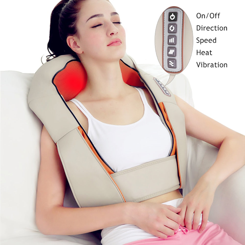 U Shape Electrical Shiatsu Back Neck Shoulder Body Massager