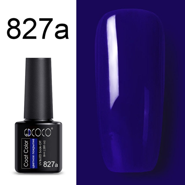 Nail Gel Varnish High Quality Plastic Bottle Bright Color