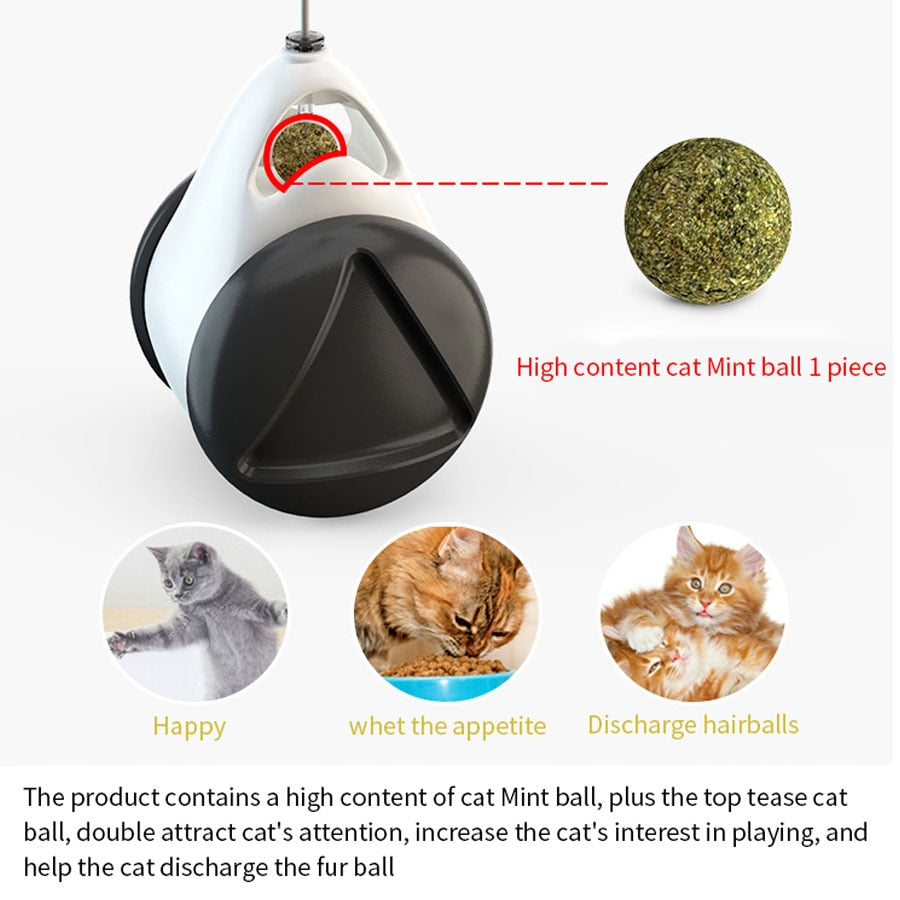 Smart Cat Toy with Wheels Automatic No need recharge cat toys interactive Lrregular Rotating Mode Funny not boring cat supplies